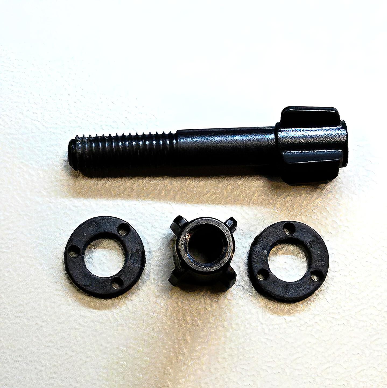 Spojovací materiál Garrett (plastová skrutka + matica, podložky)